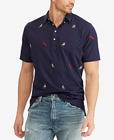 Polo Ralph Lauren Men's Sailboat Embroidered Classic-Fit Knit Oxford Shirt
