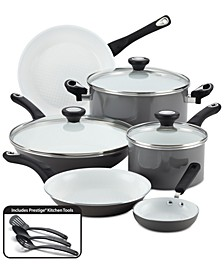 PURECOOK 12-Pc. Ceramic Non-Stick Cookware Set