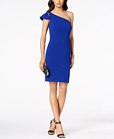Vince Camuto Ruffled One-Shoulder Sheath Dress