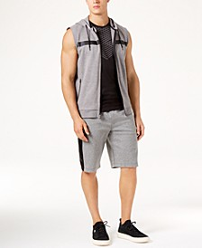 Men's Sleeveless Hoodie, Mesh T-Shirt & Mixed Media Shorts, Created for Macy's