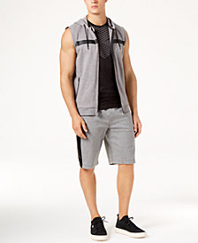 ID Ideology Men's Sleeveless Hoodie, Mesh T-Shirt & Mixed Media Shorts, Created for Macy's