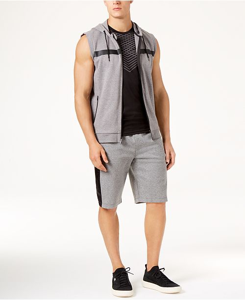 outlet store 36e6a 44209 Men's Sleeveless Hoodie, Mesh T-Shirt & Mixed Media Shorts, Created for  Macy's