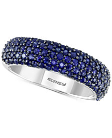 Final Call by EFFY® Sapphire Pavé Ring (1-5/8 ct. t.w.) in 14k White Gold
