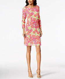Pappagallo Jane Printed 3/4-Sleeve Dress