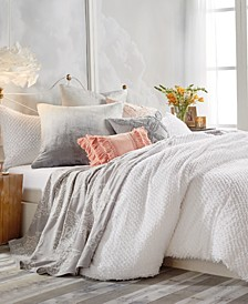 Home Dot Fringe Twin Duvet Cover