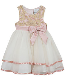 Rare Editions Little Girls Embroidered Fit & Flare Party Dress