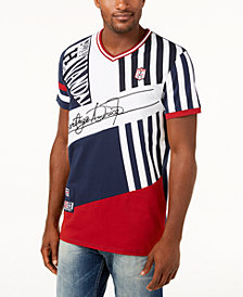 Heritage America Men's Colorblocked V-Neck T-Shirt