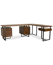 Valencia Home Office, 2-Pc. Set (Double Pedestal Desk & Return Desk)