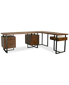 Valencia Home Office, 2-Pc. Furniture Set (Double Pedestal Desk & Return Desk)