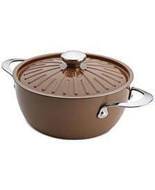Cucina Porcelain Enamel Non-Stick 4.5-Qt. Casserole & Lid