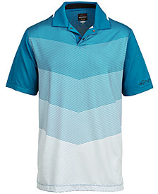 Greg Norman for Tasso Elba Men's Chevron Print Polo, Created for Macy's