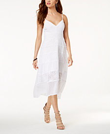 GUESS Dayana Eyelet-Lace High-Low Dress