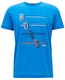 BOSS Men's Regular/Classic-Fit Cotton Logo Graphic T-Shirt