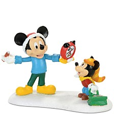 Department 56 Village Figures Disney Mickey's Autograph Clock