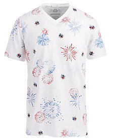 American Rag Men's Firework T-Shirt, Created for Macy's