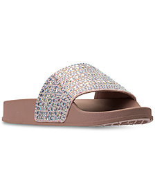 Steve Madden Little Girls' JDAZZLE Rhinestone Slide Sandals from Finish Line