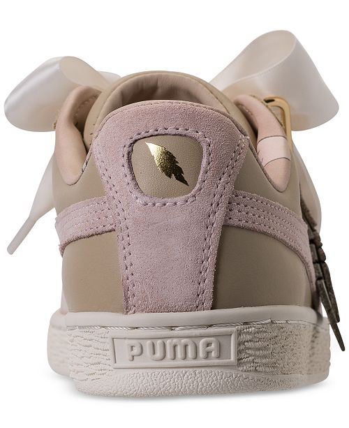 newest d0a98 8afe5 Puma Women's Basket Heart Coach Casual Sneakers from Finish ...