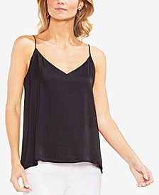 Vince Camuto Hammered Lace-Up Camisole Top