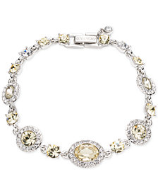 Givenchy Silver-Tone Pavé & Stone Flex Bracelet, Created for Macy's