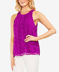 Vince Camuto Embroidered Eyelet Blouse