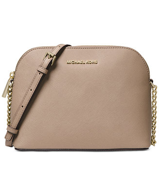 c32458f6a583 Michael Kors Cindy Saffiano Leather Crossbody   Reviews - Handbags    Accessories - Macy s