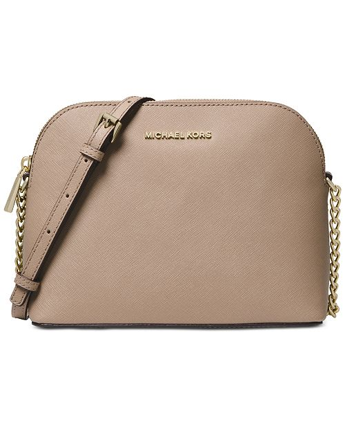 d4bd0d8a6bce Michael Kors Cindy Saffiano Leather Crossbody & Reviews ...