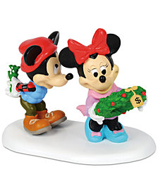 Department 56 Villages Disney Mickey's Mistletoe Surprise