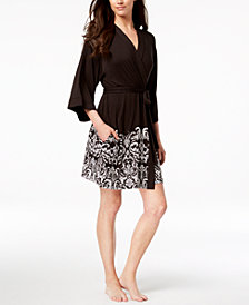 I.N.C. Printed Wrap Robe, Created for Macy's