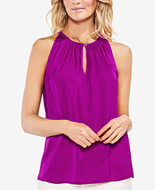 Vince Camuto Sleeveless Keyhole Top