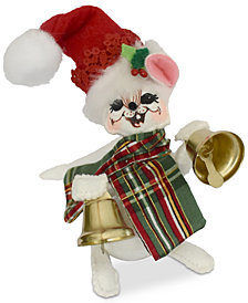 Annalee Plaid Tidings Jinglebell Mouse Figurine