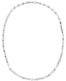 "Giani Bernini Twist Disc 24"" Chain Necklace in Sterling Silver, Created for Macy's"