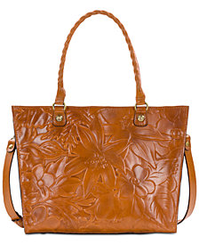 Patricia Nash Zancona Embossed Leather Tote
