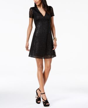 Michael Michael Kors Sequined Mesh Dress 6339168