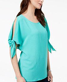 MICHAEL Michael Kors Split-Sleeve Top,a Macy's Exclusive Style