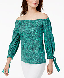 MICHAEL Michael Kors Off-The-Shoulder Top, Regular & Petite