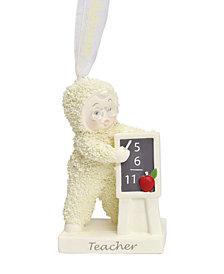 Department 56 Snowbabies Teacher Ornament