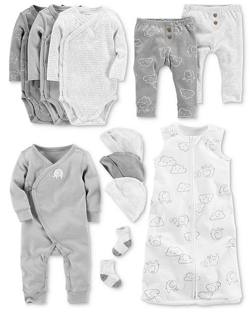 ac85e1ed8707 Carter s Baby Boys Elephant-Print Layette Separates - Sets   Outfits ...