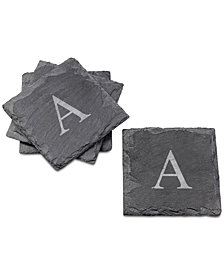 Cathy's Concepts 4-Pc. Personalized Slate Coaster Set