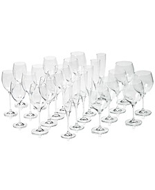 Maxima Set of 24 Crystal Stemware, Service for 6