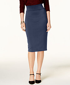 Alfani Petite Scuba Midi Skirt, Created for Macy's