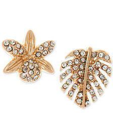 lonna & lilly Gold-Tone Pavé Mismatch Stud Earrings