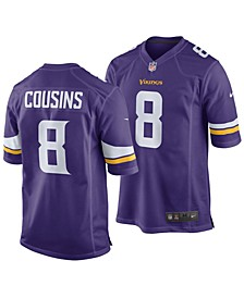 Kirk Cousins Minnesota Vikings Game Jersey, Big Boys (8-20)