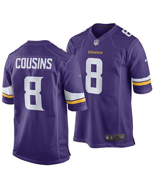 buy online f4698 fb344 Kirk Cousins Minnesota Vikings Game Jersey, Big Boys (8-20)