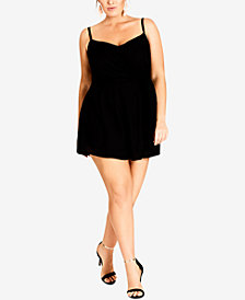 City Chic Trendy Plus Size Side-Tie Romper