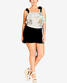 City Chic Trendy Plus Size Ruffled Top