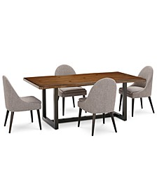 Everly Dining 5-Pc. Set (Table & 4 Round Back Side Chairs), Created for Macy's