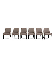 Everly Dining Chair, 6-Pc. Set  (6 Square Back Side Chairs), Created for Macy's