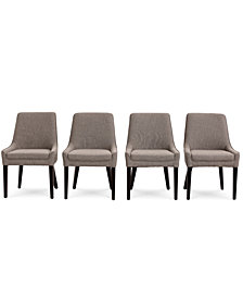 Everly Dining Chair, 4-Pc. Set  (4 Square Back Side Chairs), Created for Macy's