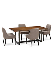 Everly Dining Furniture, 5-Pc. Set (Table & 4 Square Back Side Chairs), Created for Macy's