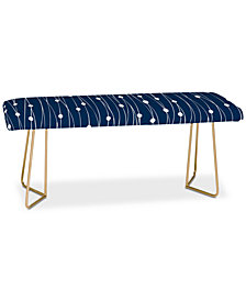 Deny Designs Heather Dutton Navy Entangled Bench